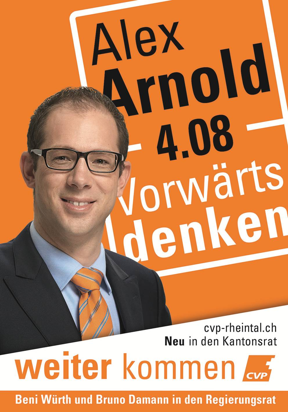 Plakat Kantonsrat Alex Arnold 2016